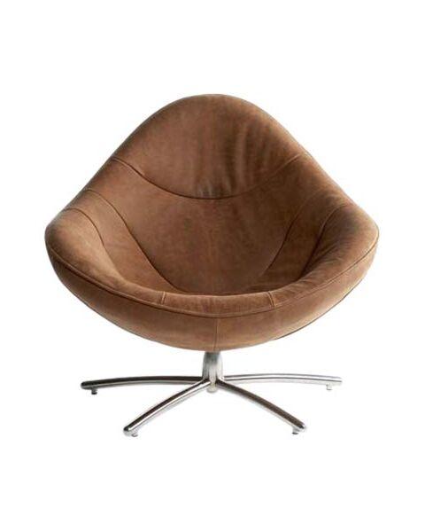 label hidde fauteuil bruin
