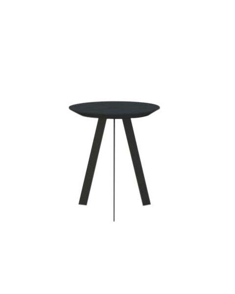studio henk smalle salontafel zwart smalle poten rond