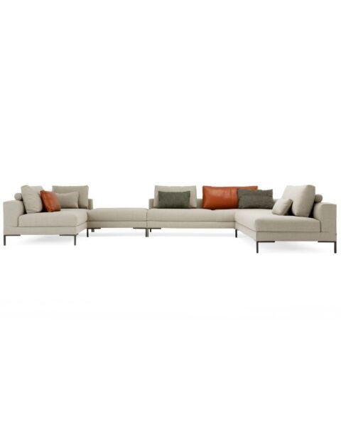 Design on Stock stofstalen u-opstelling Aikon Lounge