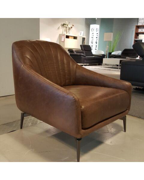 Natuzzi Editions fauteuil Adele leder Showroom