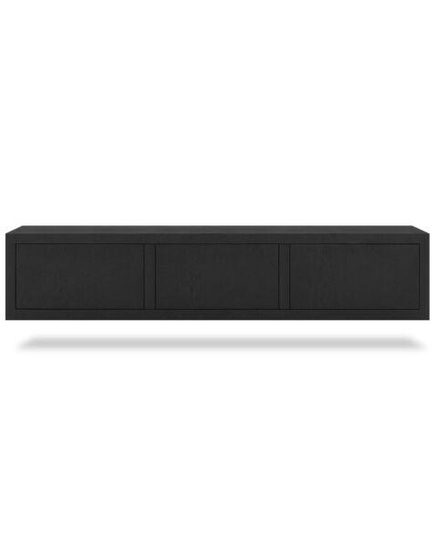 Zwevend TV-meubel Jewel Zwart 180cm